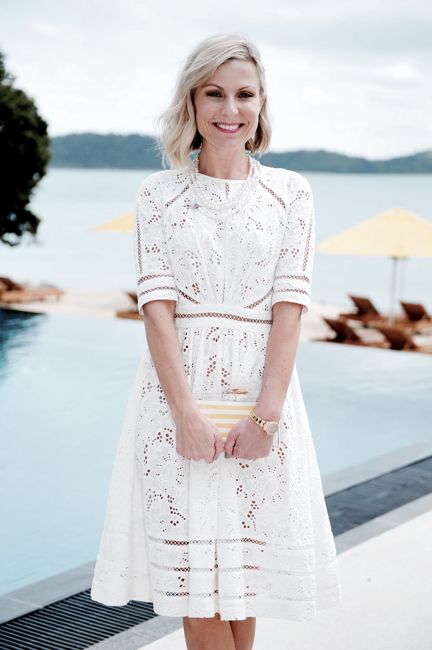 NICKY TINDILL PASPALEY PEARLS LUNCH AT PEBBLE BEACH, QUALIA - AHIRW 2014 HAMILTON ISLAND FRIDAY 22ND AUGUST, 2014 PHOTOGRAPHER: BELINDA ROLLAND © 2014